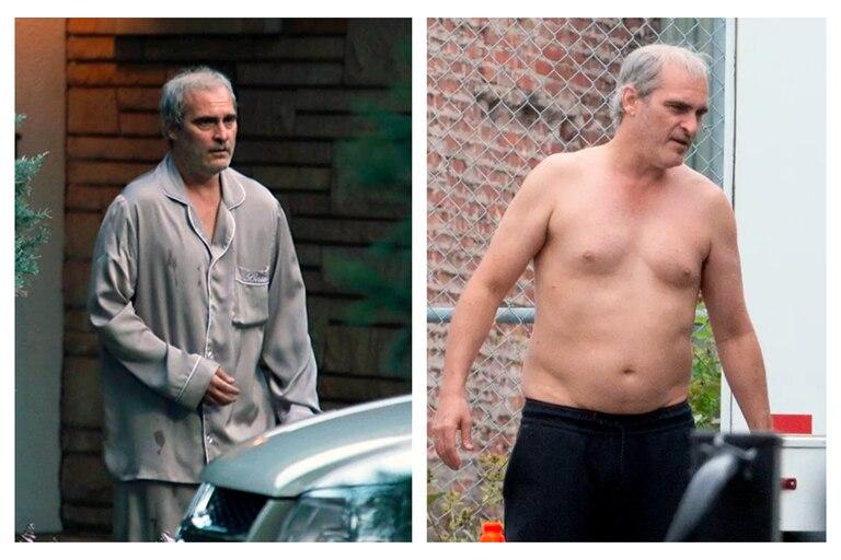 Joaquin Phoenix fotografiado durante el rodaje de Disappointment Blvd, la nueva película de Ari Aster