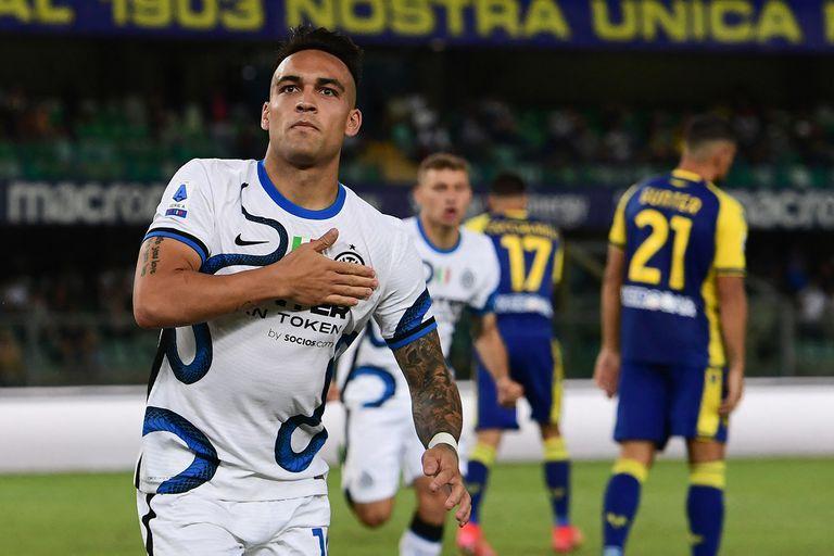 Lautaro Martínez empató en el inicio del segundo tiempo; el bahiense se quedó en Inter y pasa a ser su mayor referencia ofensiva.