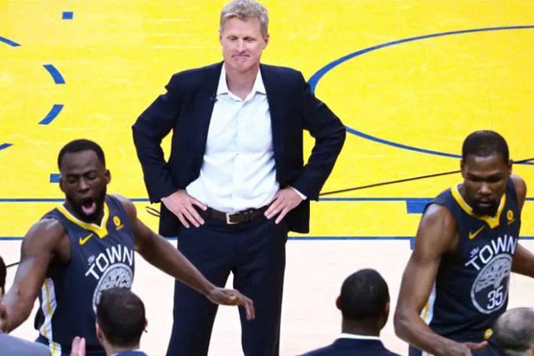 NBA. Steve Kerr habló de la tensa relación entre Draymond Green y Kevin Durant