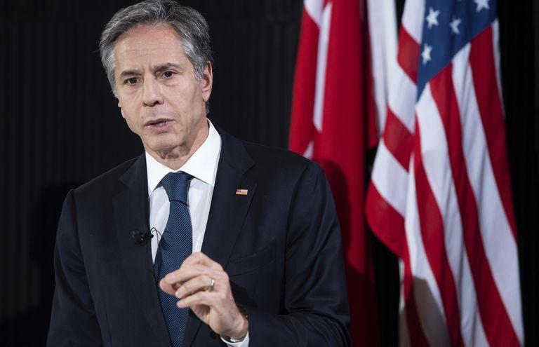 El secretario de Estado de Estados Unidos, Antony Blinken, quien llamó por teléfono al canciller argentino Felipe Solá.