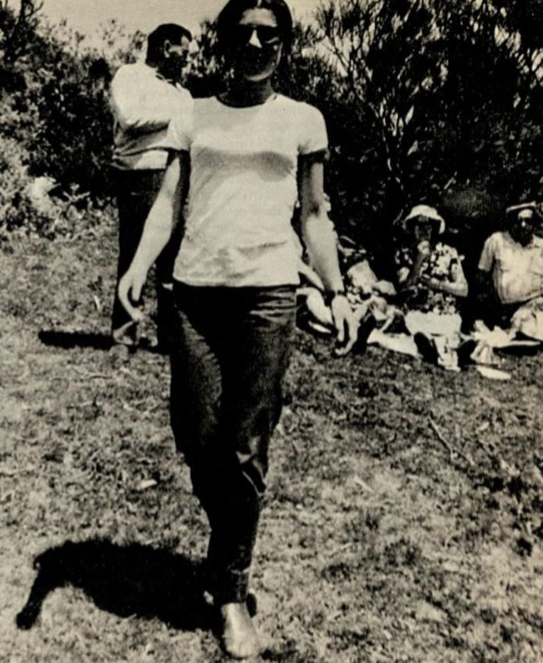 Cecilia Giubileo, pocos meses antes de su desaparición, el 17 de junio de 1985