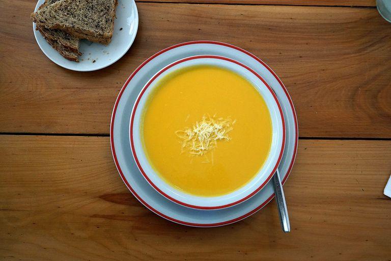 Sopa de calabaza en Farinelli