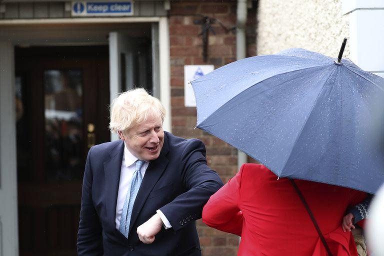 Boris Johnson fue este viernes a Hartlepool tras conocer el resultado electoral