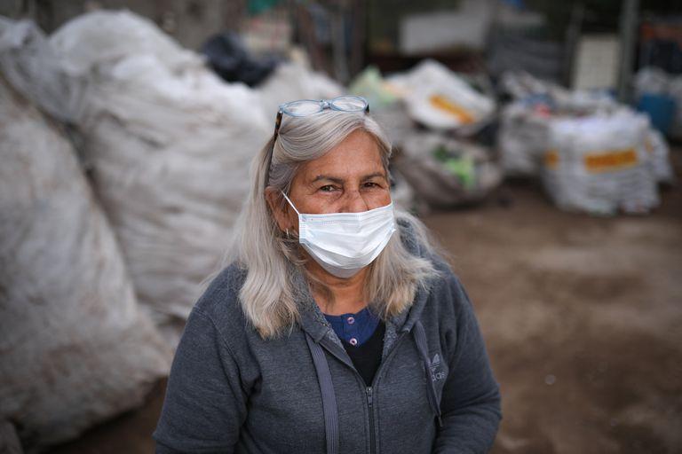 Teresa Tissera es la presidenta de la cooperativa y coordina el trabajo de los recicladores