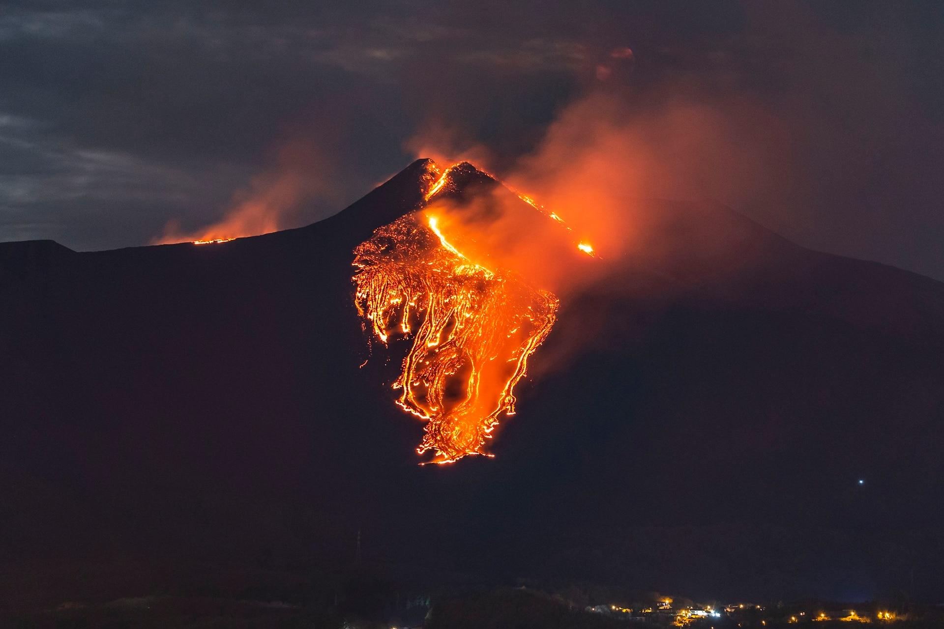 El Etna es el volcán más activo de Europa