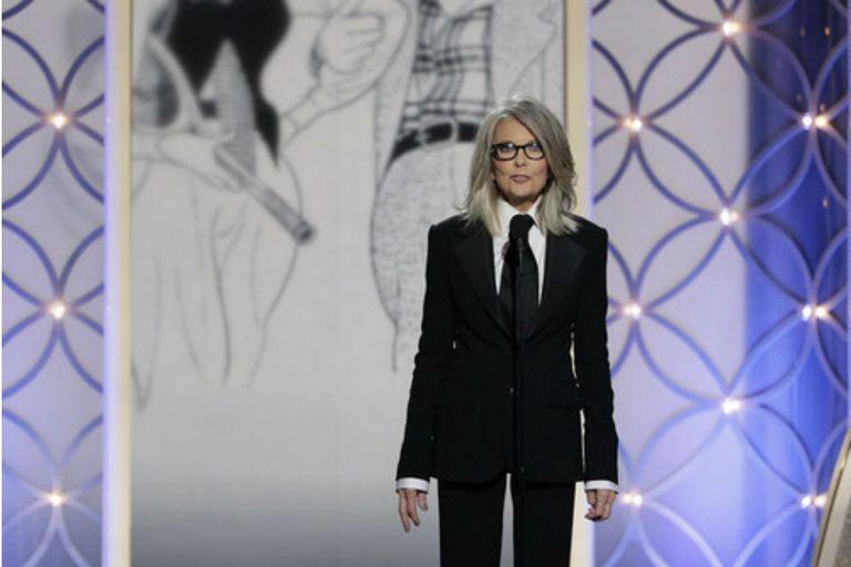 Diane Keaton y un bello homenaje a Woody Allen