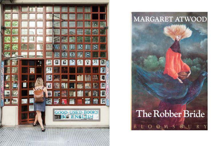 Derecha: The Robber Bride, Margaret Atwood, la gran novela de una canadiense que es eterna candidata al Nobel, (Bloomsbury, $200)