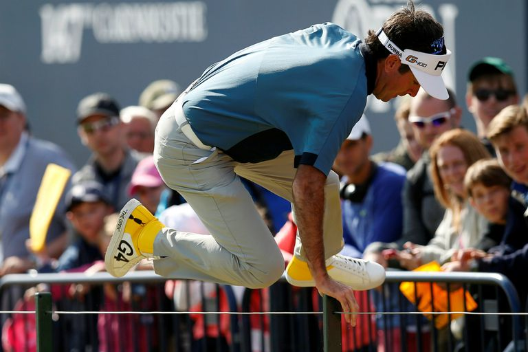 Bubba Watson y su modelo especial de zapatillas para el British Open