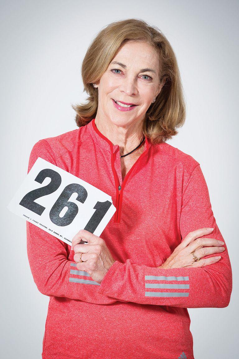 Kathrine con su número, el 261, que fue retirado de las carreras a modo de tributo a su trayectoria