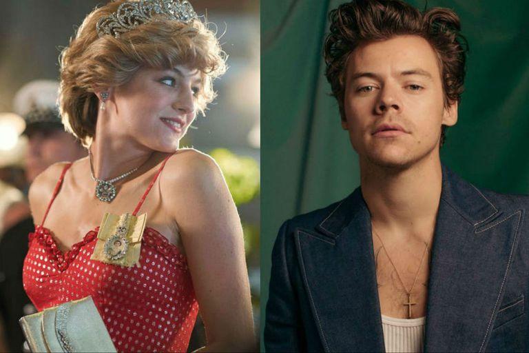 """La curiosa """"cita"""" de Harry Styles y Emma Corrin, la actriz de The Crown"""