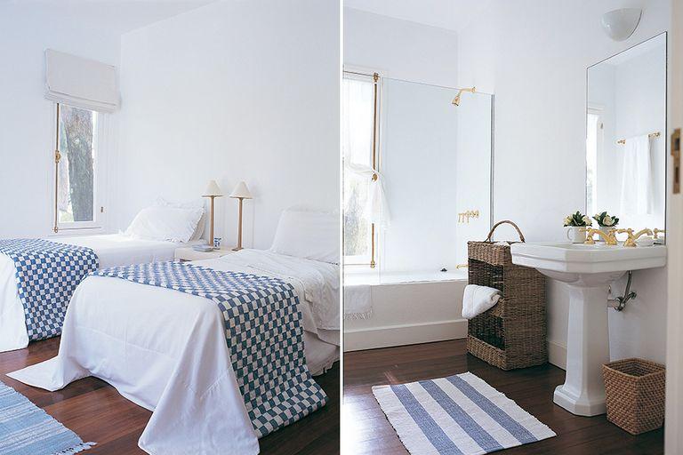 En mimbre, cesto y mueble para guardar toallas