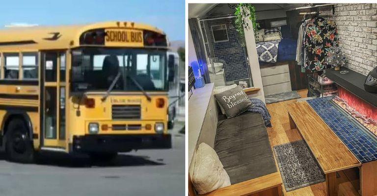 La conversión de un autobús escolar en una casa confortable y lujosa llevó una inversión de US$40.000 y unos 200 días de trabajo