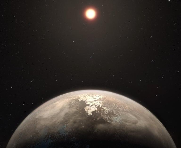 Ross 128 b se encuentra a 11 años luz, el segundo planeta fuera del Sistema Solar más próximo a la Tierra. (Ilustración: ESO/M. Kornmesser)