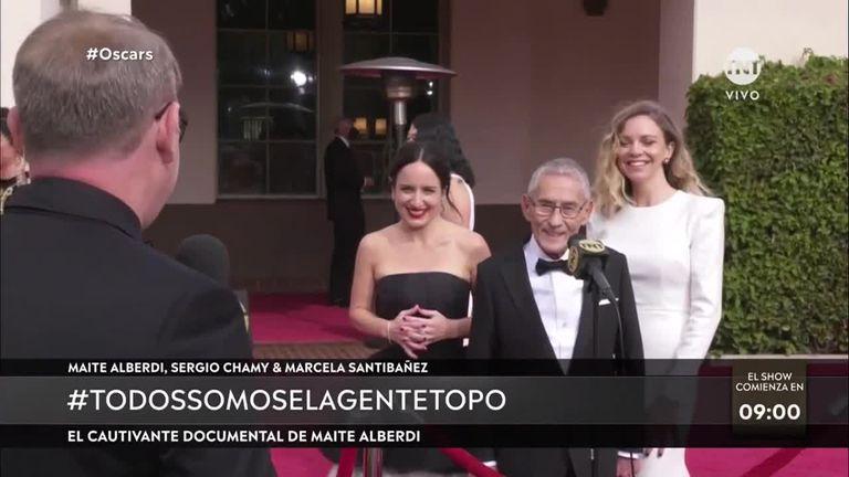 Alberdi, Chamy y Santibañez, en la alfombra roja de los Oscars