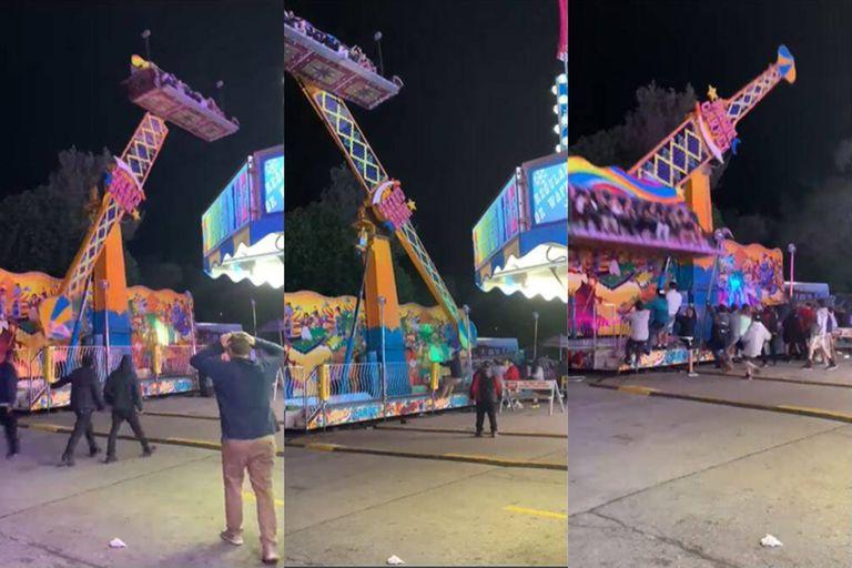 El aterrador momento que se vivió en el National Cherry Festival de Michigan, cuando un juego falló y los visitantes evitaron un desastre