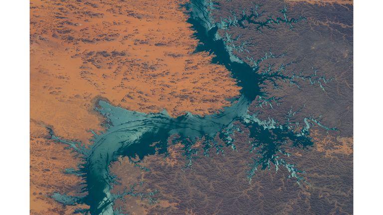 Lago Nasser al sur de Egipto