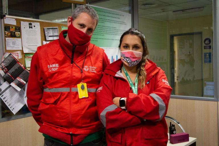 Por dos meses. Atienden emergencias y se aislaron para no contagiar a sus hijos