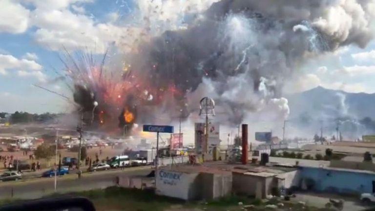 La explosión ocurrió en el municipio mexicano de Tultepec