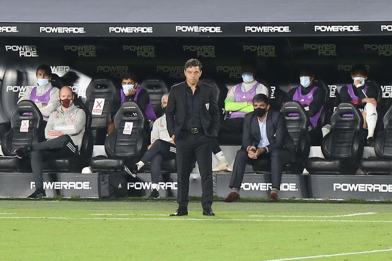 Marcelo Gallardo durante un partido: este domingo se juega la clasificación a cuartos de final de la Copa de la Liga