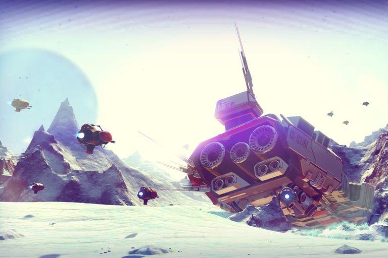 Una vista de No Man''''s Sky, el juego para PlayStation 4 con un universo infinito