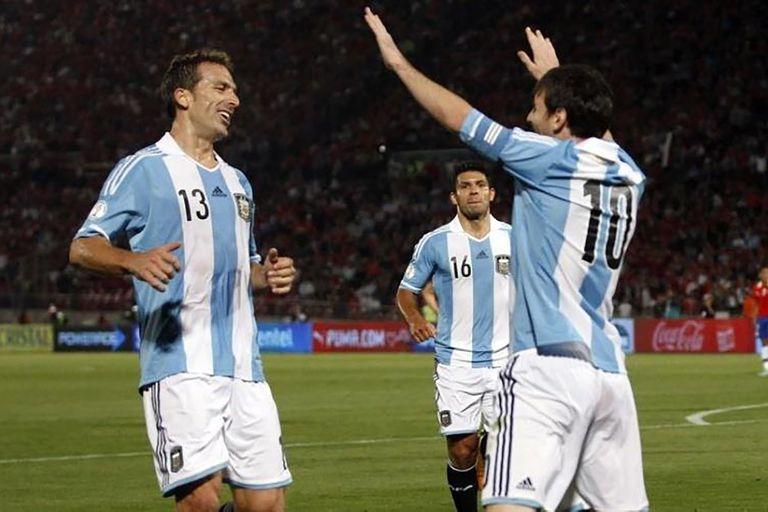 Uno de los partidos que compartió con Lionel Messi durante los dos años y medio en que integró el seleccionado argentino.