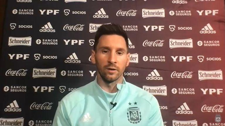 Lionel Messi habló en conferencia de prensa este domingo, un día antes del debut de la Argentina en la Copa América frente a Chile