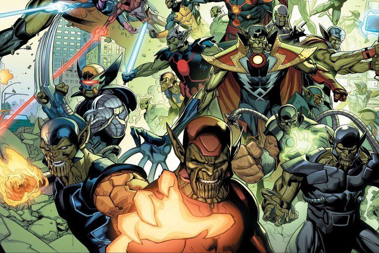 En Secret Invasion, varios Skrulls adoptan la forma de conocidos héroes y los suplantan durante años
