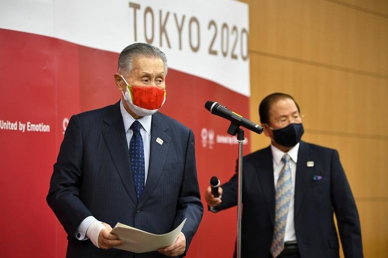 Yoshiro Mori (presidente) y Toshiro Muto (CEO de Tokio 2020) brindaron nuevos detalles de los JJOO