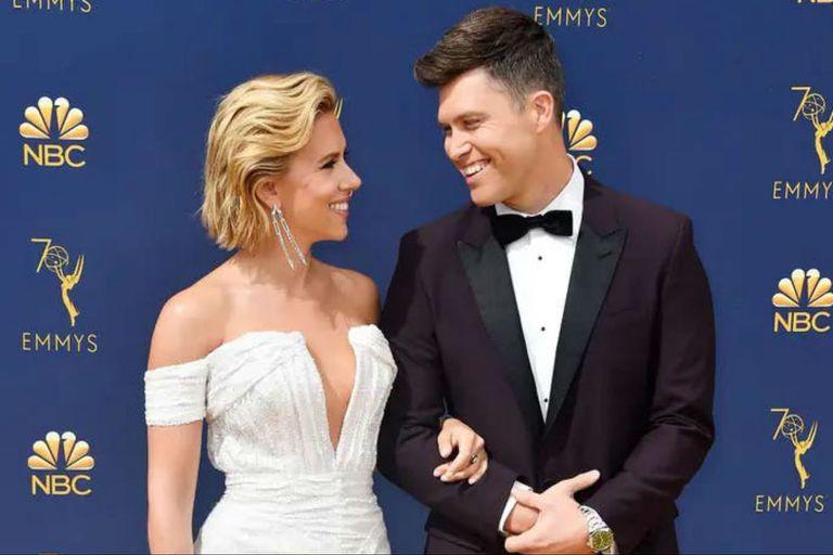 Scarlett Johansson se casó con Colin Jost en una ceremonia íntima