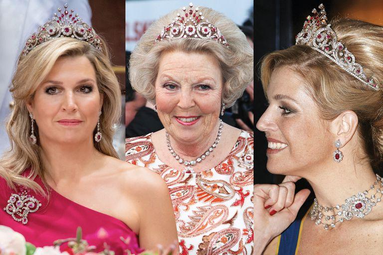 Al separarse del príncipe Carlos Hugo de Borbón-Parma, la princesa Irene vendió sus joyas para ayudar a madres pobres de Filipinas. Sin embargo, en 2009 Máxima sorprendió llevando la parure. No hay certezas pero se especula que la reina Juliana le compró las joyas a su hija.