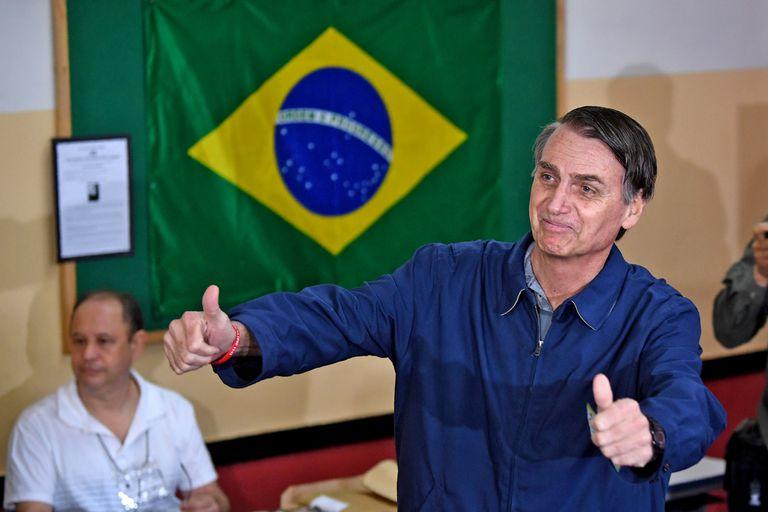 El candidato brasileño de ultraderecha Jair Bolsonaro