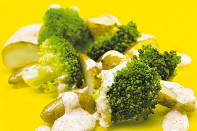 Broccoli y papines crocantes