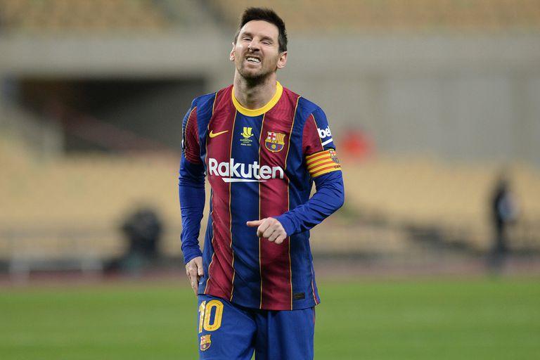 Todo mal. Barcelona perdió la Supercopa de España y Messi se fue expulsado
