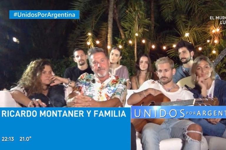 Ricardo Montaner y familia, con Stefi Roitman, novia de Ricky Montaner