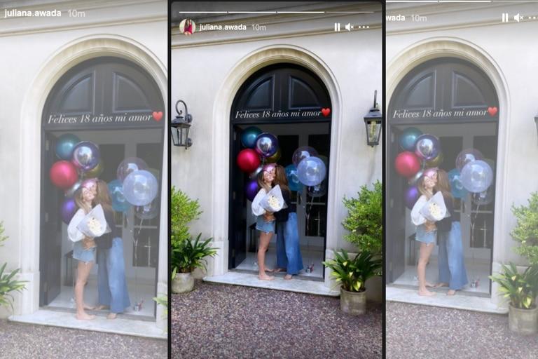 Juliana Awada festejó los 18 de su hija Valentina en la red social