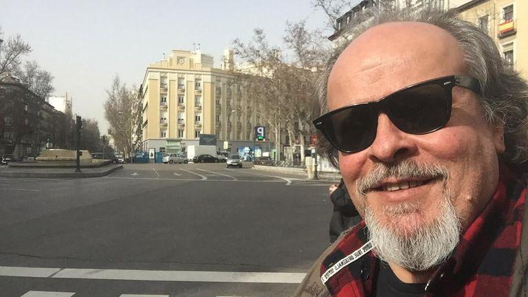 Marcelo Peralta en Madrid, donde residía desde 1996.