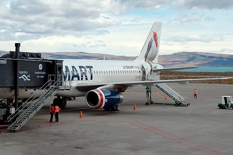 El vuelo de JetSmart inauguró a fines de enero la ruta Buenos Aires-Calafate como parte de su estrategia durante el verano 2021