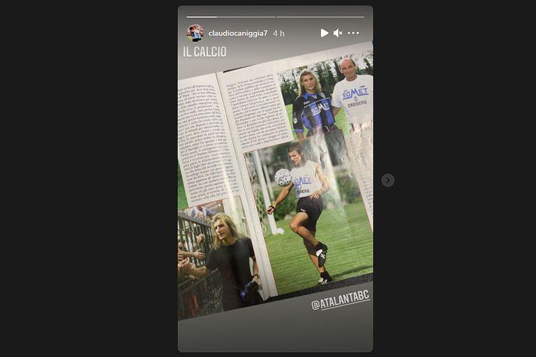Claudio Caniggia recordó también su paso por el Atalanta de Italia
