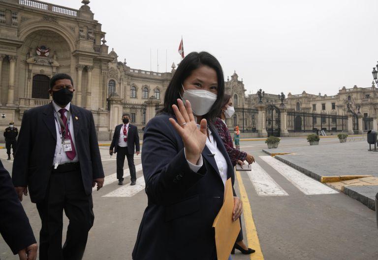 La excandidata presidencial Keiko Fujimori
