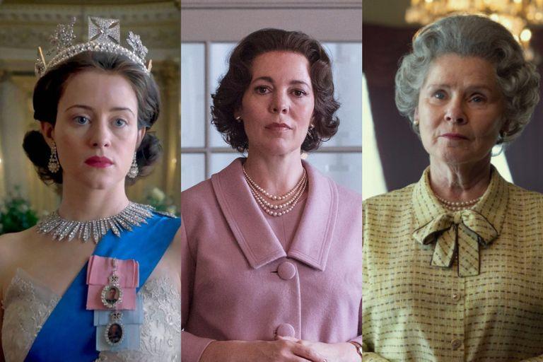 Claire Foy, Olivia Colman e Imelda Staunton, las tres actrices elegidas para interpretar a la Reina Isabel II a lo largo de los años