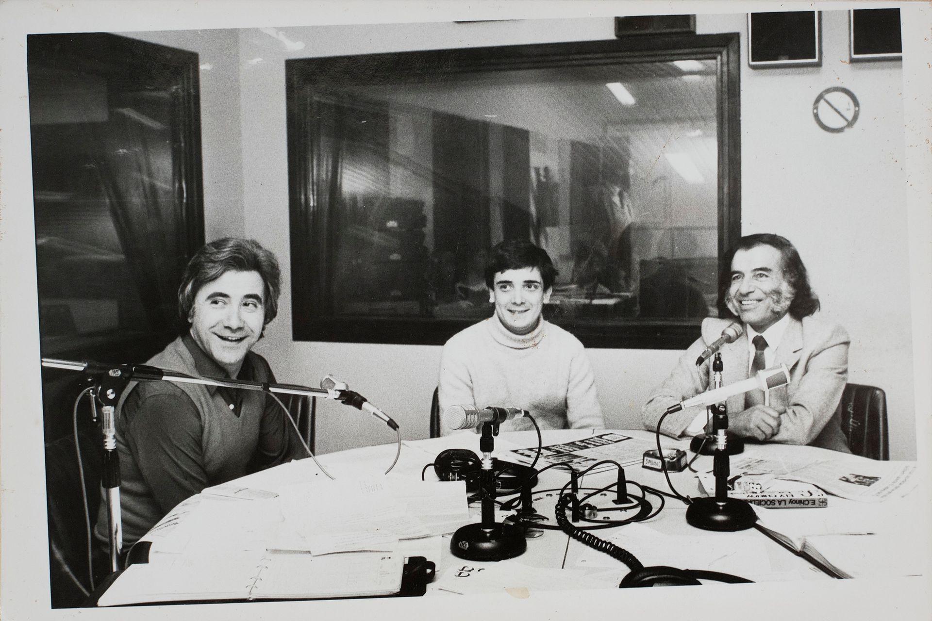Juan Alberto Mateyko, Nito Artaza y Carlos Menem.