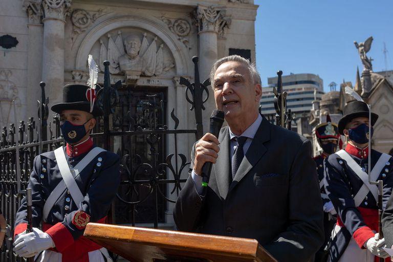 Pichetto participó de un homenaje a Roca y rechazó el avance de los mapuches en el sur