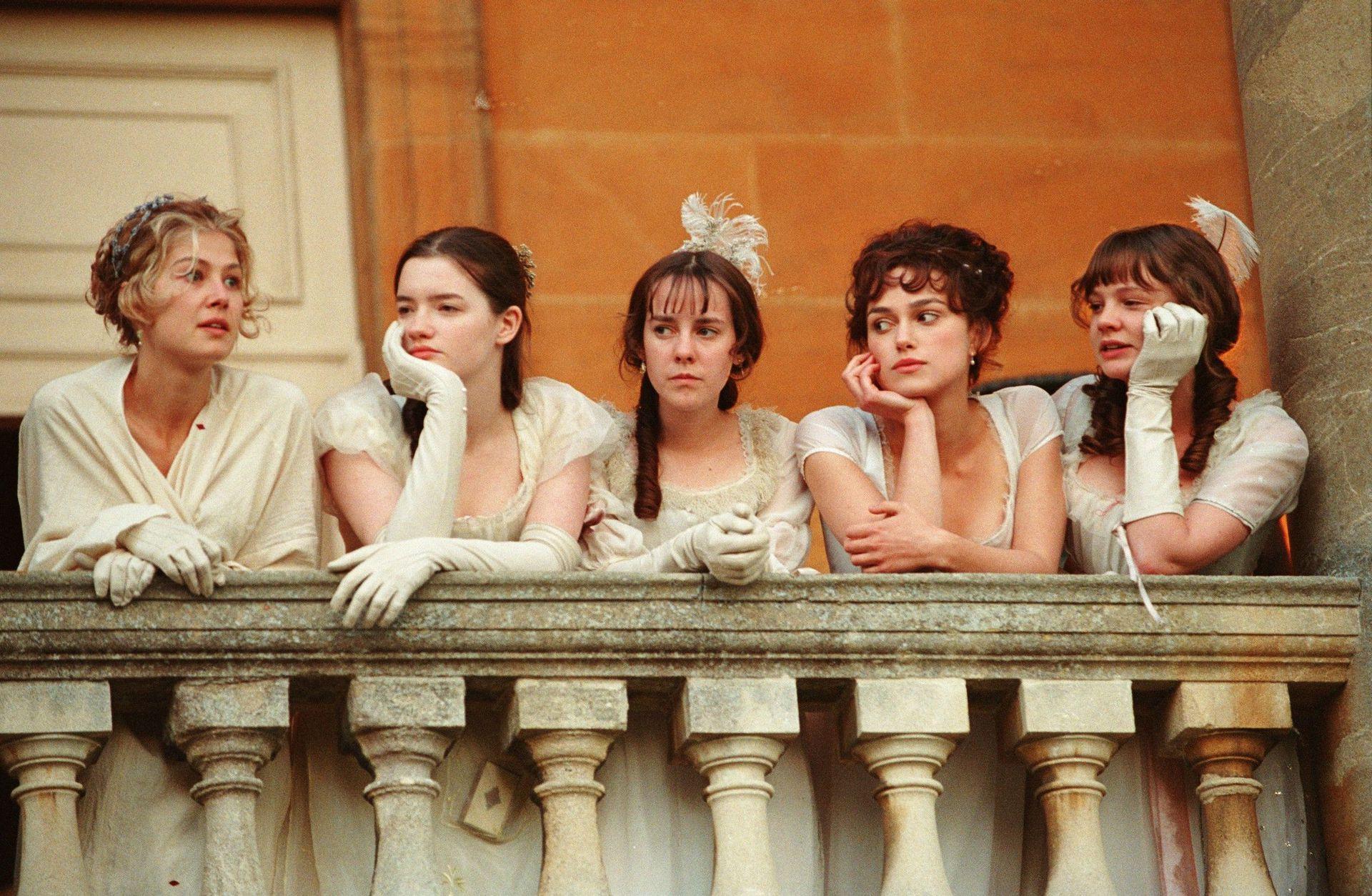 Las hermanas Bennet: Rosamund Pike, Talulah Riley, Jena Malone, Keira Knightley, y Carey Mulligan