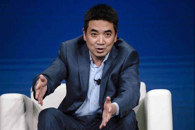 Eric Yuan, el fundador y CEO de Zoom, en una reciente conferencia