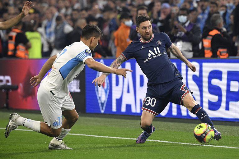 Messi en PSG: en su primer clásico vs. Marsella un pase suyo terminó en gol, pero el VAR lo anuló