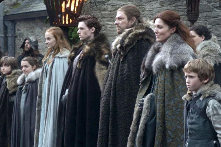 Los Stark, cuando estaban tranquilos en Winterfell