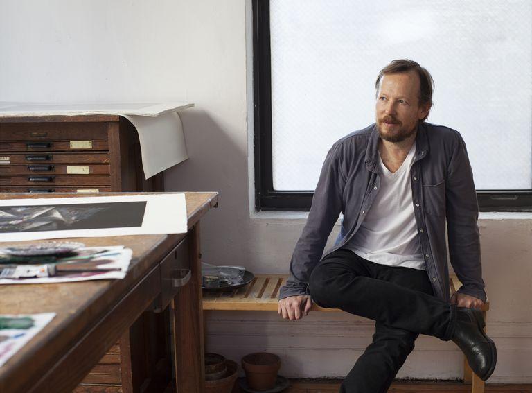 Guillermo Kuitca, en su atelier