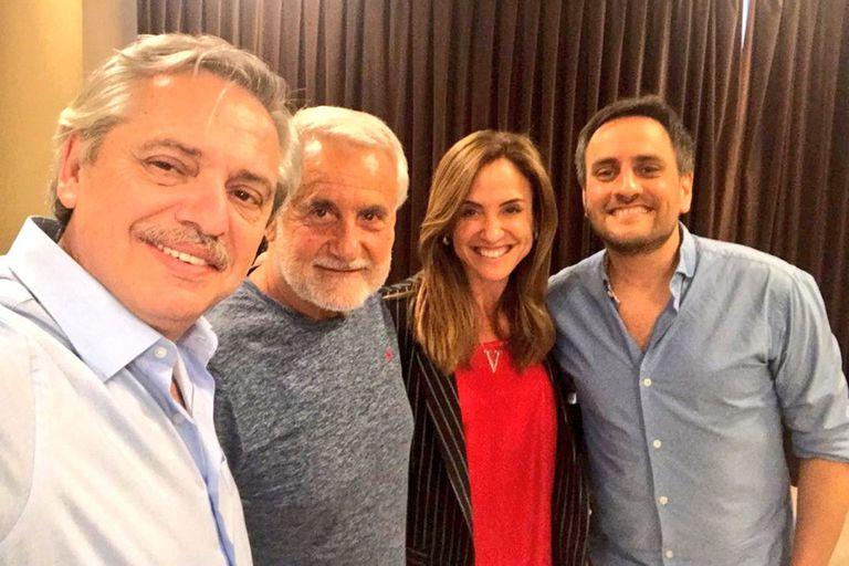 Fernández, Albistur, Tolosa Paz y Juan Cabandié, en la anterior campaña