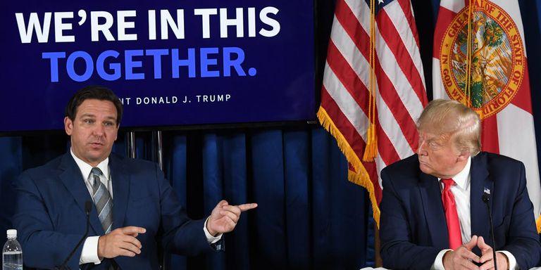Hace dos años, el apoyo Donald Trump fue crucial la victoria de DeSantis como gobernador