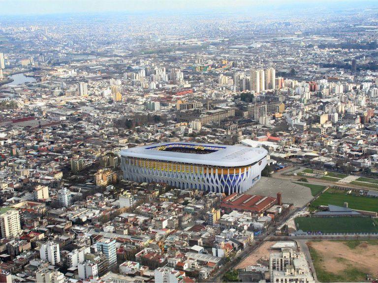 El proyecto presentado por el arquitecto Mario Lizza en marzo de 2019 aseguraba una Bombonera para 80.000 espectadores, pero planteaba demoler la tribuna local, la pileta, los quinchos y el estacionamiento interno.